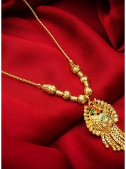 Stone Work Mangalsutra in Gold