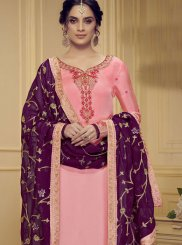 Stone Work Pink Designer Salwar Kameez