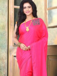Stone Work Pink Traditional Designer Saree