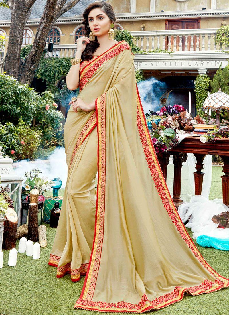 Stone Work Rangoli Designer Saree