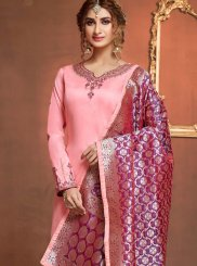Stone Work Sangeet Churidar Suit