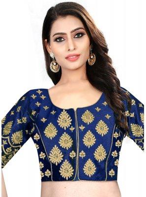 Stunning Blue Color Readymade Designer Blouse