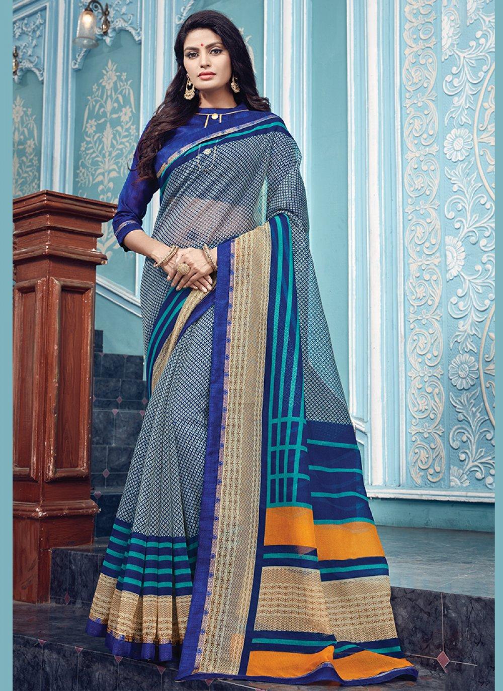 Super Net Grey Designer Traditional Saree