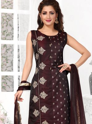 Tafeta Silk Black Designer Suit