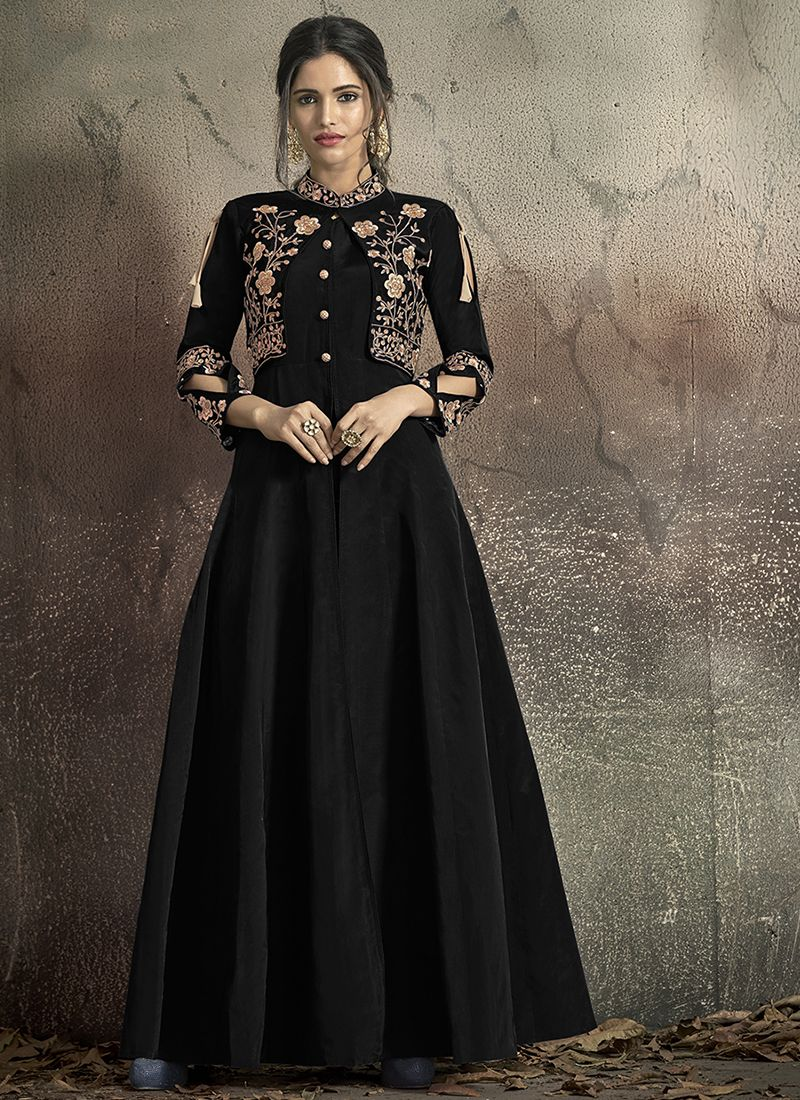 Tafeta Silk Ceremonial Designer Gown