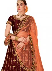 Tafeta Silk Embroidered Designer Lehenga Choli