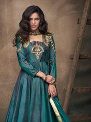 Tafeta Silk Festival Readymade Gown