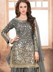 Tafeta Silk Reception Designer Patila Salwar Suit