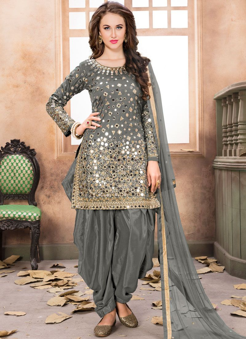 Tafeta Silk Reception Designer Patila Salwar Suit