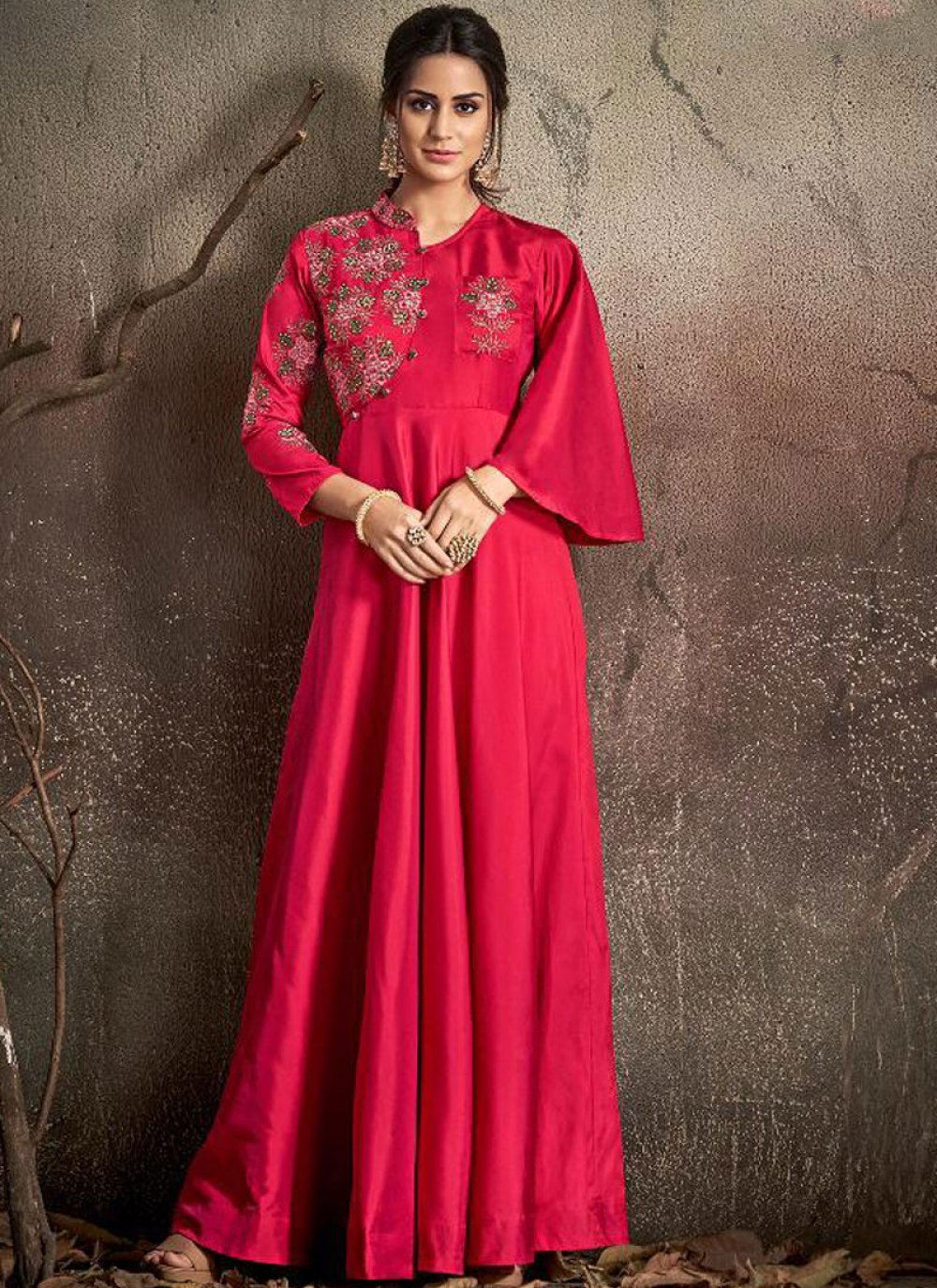 Tafeta Silk Trendy Gown