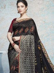 Tamannaah Bhatia Abstract Print Multi Colour Linen Printed Saree