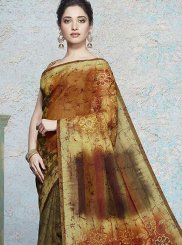 Tamannaah Bhatia Art Silk Multi Colour Abstract Print Printed Saree