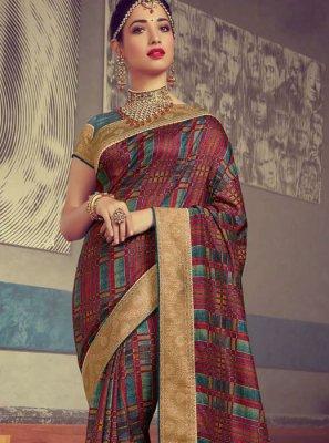 Tamannaah Bhatia Art Silk Woven Traditional Designer Saree