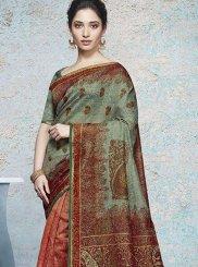 Tamannaah Bhatia Multi Colour Abstract Print Printed Saree