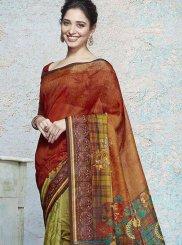 Tamannaah Bhatia Multi Colour Art Silk Printed Saree