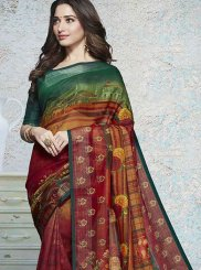 Tamannaah Bhatia Multi Colour Linen Printed Saree