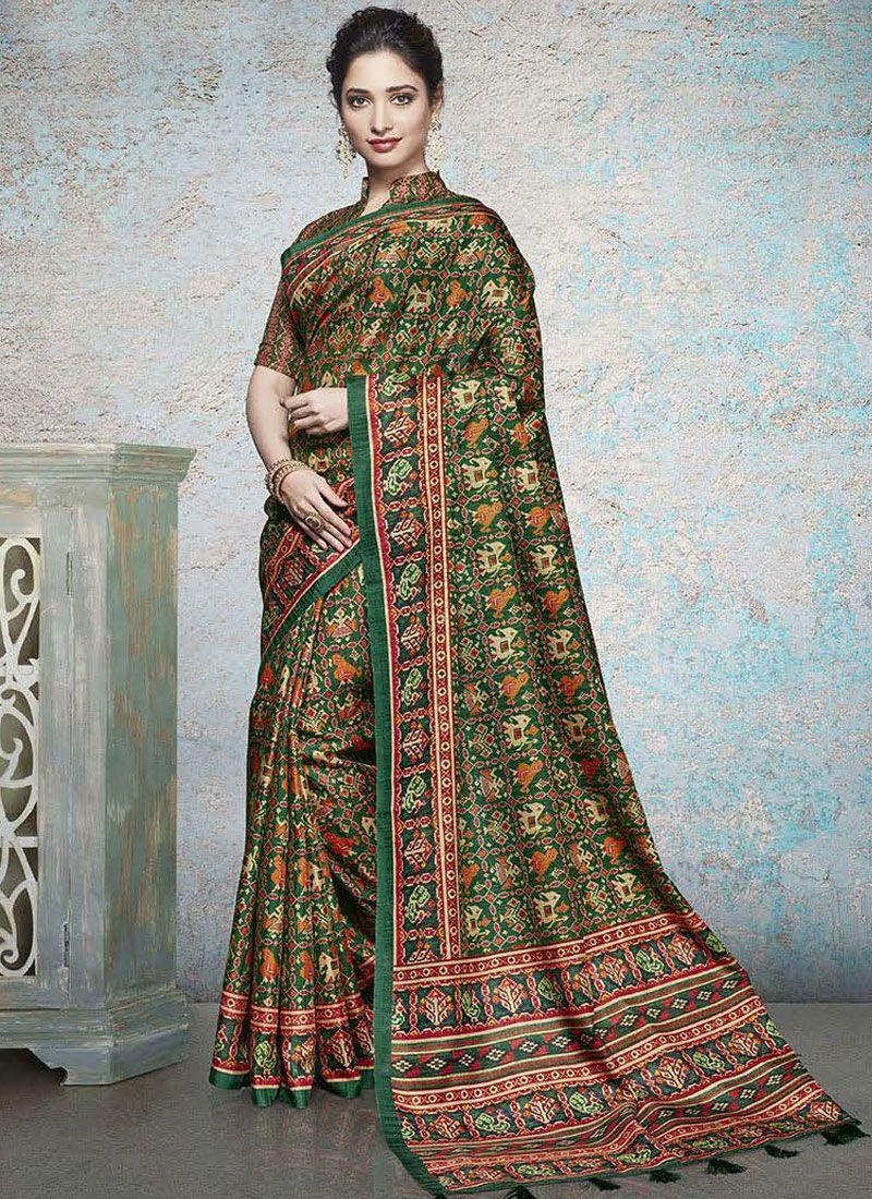 5b0ea26333 Shop Tamannaah Bhatia Multi Colour Printed Saree Online : 114529 -