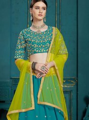Teal Ceremonial A Line Lehenga Choli