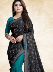 Teal Ceremonial Trendy Saree