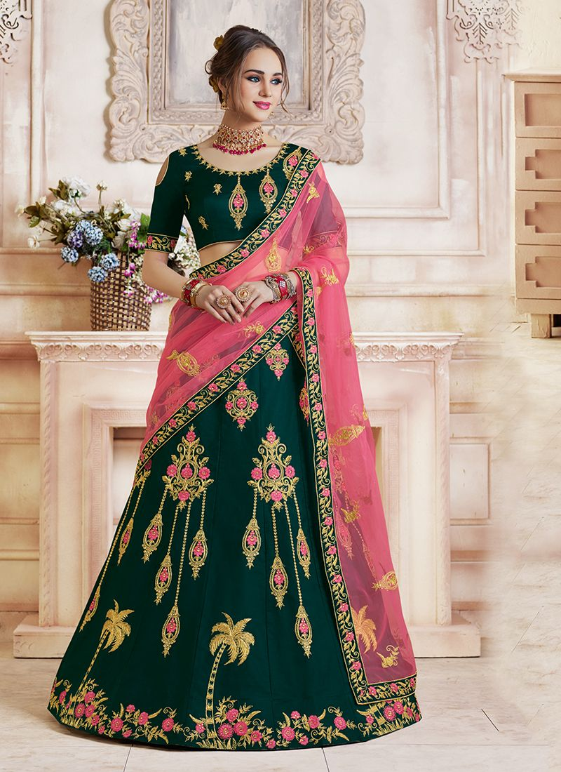 Teal Color Designer Lehenga Choli