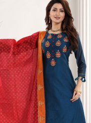 Teal Designer Pakistani Salwar Suit
