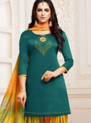 Teal Designer Patiala Suit