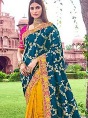 Teal Designer Traditional Saree