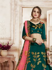 Teal Embroidered Designer Lehenga Choli