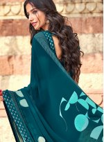 Teal Festival Casual Saree