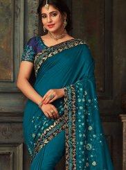 Teal Traditional Designer Saree