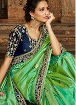 Teal Traditional Saree