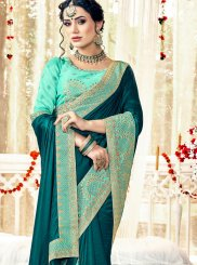 Teal Zari Trendy Saree
