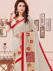 Thread Beige Classic Saree