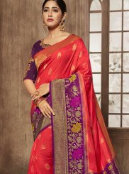 Thread Jacquard Silk Designer Traditional Saree