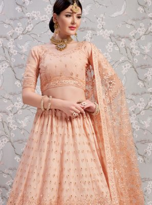 Thread Peach Lehenga Choli
