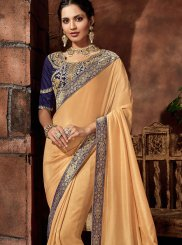 Thread Satin Silk Classic Saree