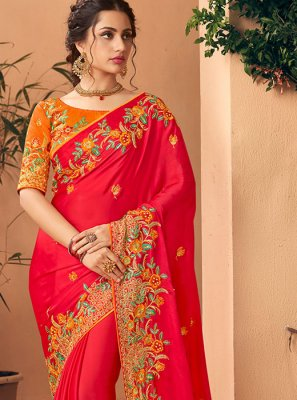 Thread Work Silk Saree