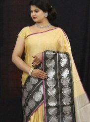 Tissue Weaving Designer Traditional Saree in Yellow