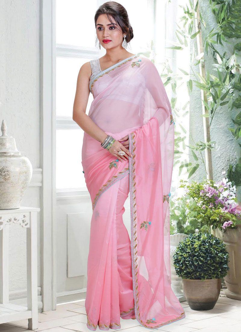 Tissue Wedding Shaded Saree