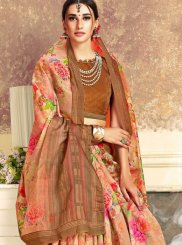 Traditional Saree Digital Print Art Silk in Multi Colour