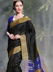 Traditional Saree Woven Art Silk in Black