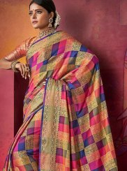 Traditional Saree Woven Art Silk in Multi Colour