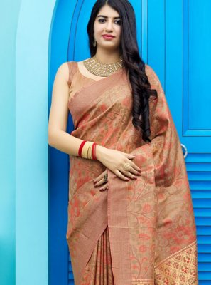 Tunchui Boota Weaving Trendy Saree