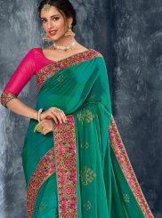 Turquoise Ceremonial Designer Saree