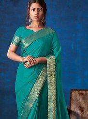 Turquoise Color Classic Designer Saree