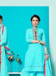 Turquoise Designer Pakistani Suit