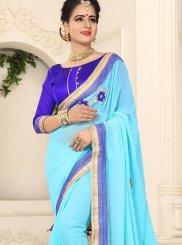 Turquoise Festival Classic Saree