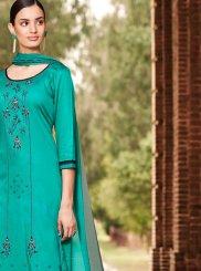 Turquoise Thread Palazzo Designer Salwar Suit