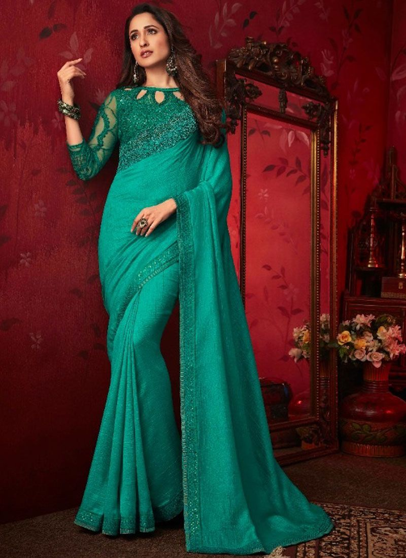 Turquoise Traditional Saree