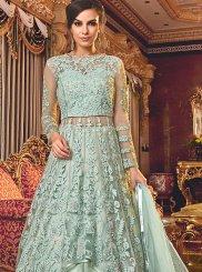 Turquoise Trendy A Line Lehenga Choli